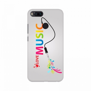 Love Music Colorful Text Mobile Case Cover