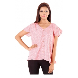 Generic Womens Polyester Regular style Top (Pink, M)