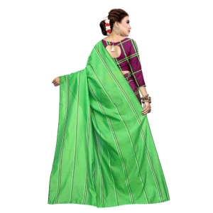 Generic Women's Polyester Cotton Saree with Blouse (Multi, 5-6 Mtrs)