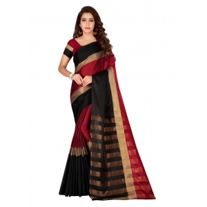 Generic Women's Cotton Saree with Blouse (Multi, 5-6 Mtrs)
