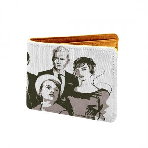 Family Art Design Black and white Canvas, Artificial Leather Wallet