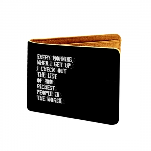 Every Morning When I Get Up I Check Out Design Black and Red Canvas, Artificial Leather Wallet