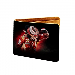 Lets Race Design Black and Red Canvas, Artificial Leather Wallet