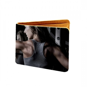 It Doesn't Get Easier You Just Get Better Design Multi color Canvas, Artificial Leather Wallet