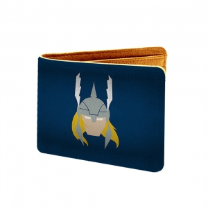 Thor Design Blue Canvas, Artificial Leather Wallet