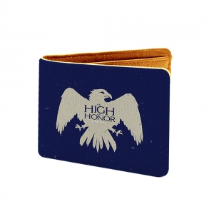 High Honor Design Blue Canvas, Artificial Leather Wallet