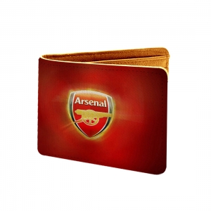 Arsenal Design Red Canvas, Artificial Leather Wallet