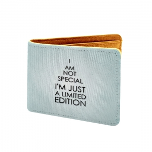 I Am Not Special I Am Just A Limited Edition Design Light Blue Canvas, Artificial Leather Wallet