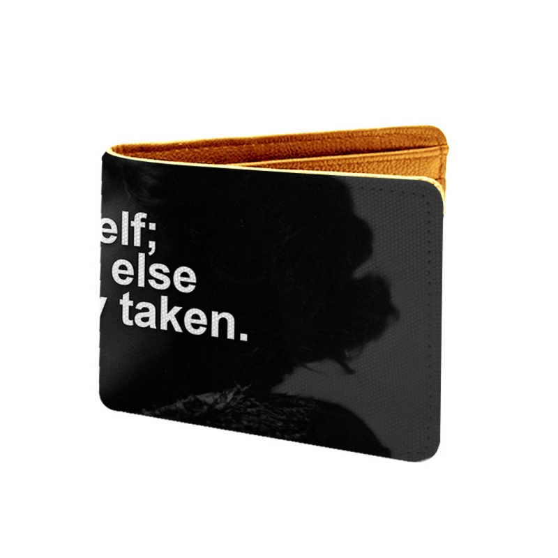 Be Yourself Design Multi color Canvas, Artificial Leather Wallet