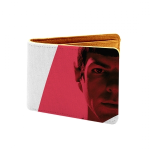 Players  Design White and Red Canvas, Artificial Leather Wallet