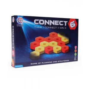 Connect 6 Board Game-Red Yellow