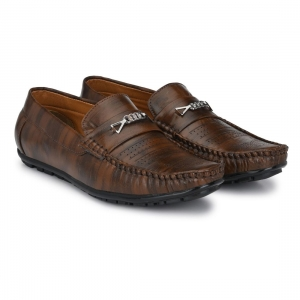 Generic Men Brown Color Leatherette Material  Casual Loafers