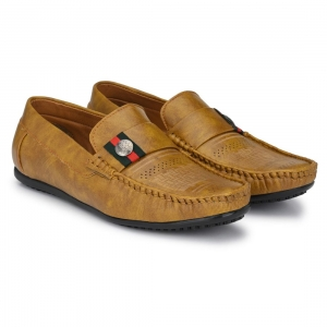 Generic Men Beige,Tan,Brown Color Leatherette Material  Casual Loafers