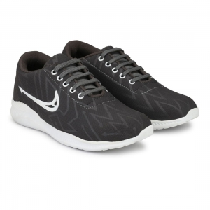 Generic Men Grey,White Color Canvas Material  Casual Sneakers