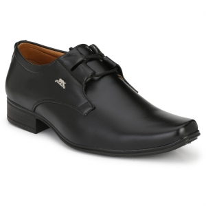 Generic Men's Black Color Nappa Leather Material  Casual Formal Shoes