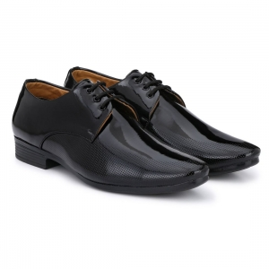 Generic Men Black Color Patent Leather Material  Casual Formal Shoes