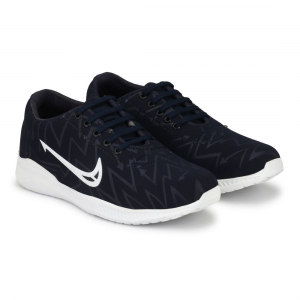 Generic Men Navy,Blue,White Color Canvas Material  Casual Sneakers