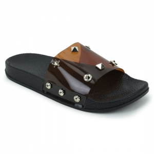 Generic Women Brown Color Synthetic Material  Casual Sliders