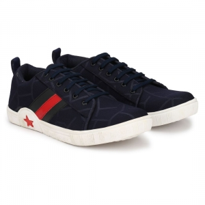 Generic Men Navy,Blue,Red,White Color Canvas Material  Casual Sneakers