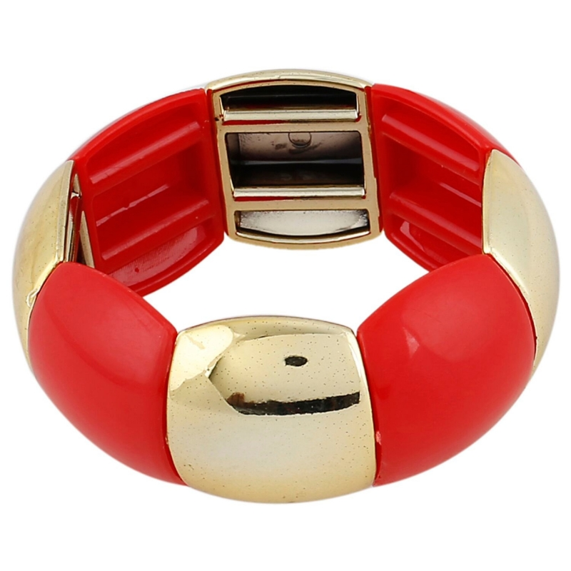 Generic Women's Gold Plated  Charm Bracelet-Red