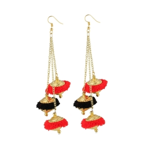 Generic Women's Gold Plated Pom Pom Fashion Earrings-Gold