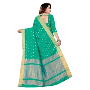 Generic Women's Art Silk Saree With Blouse (Green, 5-6 Mtrs)