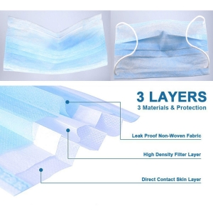 3 Ply Mask  (Pack of 50 )