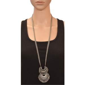 Afghani Tribal Antique Oxidised Silver Princess Necklace