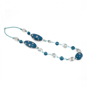 Stone Beads Fashion Silver Necklace