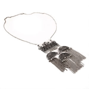 Afghani Tribal Antique Boho Oxidised Silver NecklaceFashion Accessories