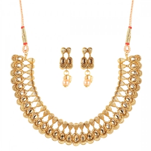 Elegant Inspired Traditional Gold Plated Necklace