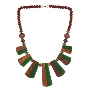High Finished Wooden Tibetan Beads Necklace