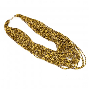Yellow Multi Layer Beads Necklace