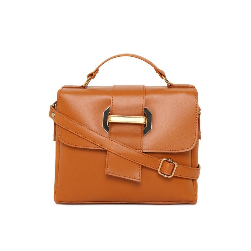 Generic Women's Faux Synthetic Leather Sling Bag (Brown)