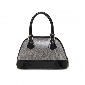 Generic Women's Faux Synthetic Leather Satchel Bag (Silver)