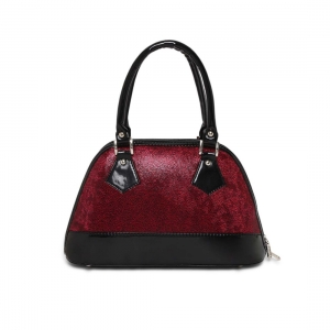 Generic Women's Faux Synthetic Leather Satchel Bag (Red)