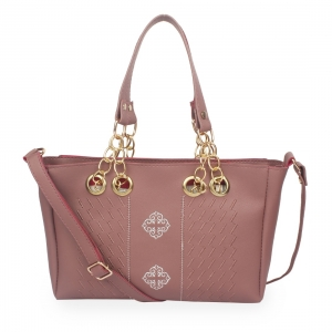 Generic Women's Faux Synthetic Leather Satchel Bag (Maroon)