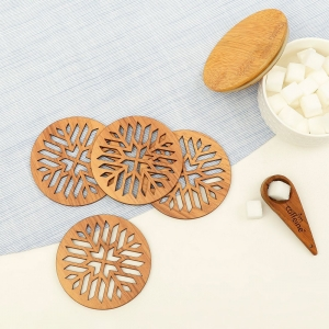 Wooden Coasters for Tea Coffee (Set of 4)