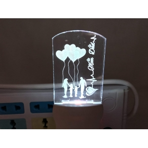 Generic Multicolor Mom And Dad Night Lamp