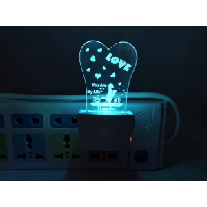 Generic Multicolor You Are My Love Night Lamp
