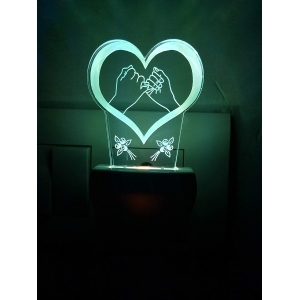 Generic Multicolor Promise With Heart Love Night Lamp (Screwless)