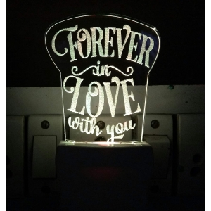 Generic Multicolor Forever In Love With You Design Night Lamp