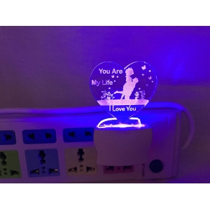 Generic Multicolor You Are My Life Night Lamp