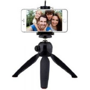 Mini tripod works with most Smartphones