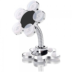 Phone sucking Stand (Pack of 2 ), Flower Shape Cell Phone Holder-White