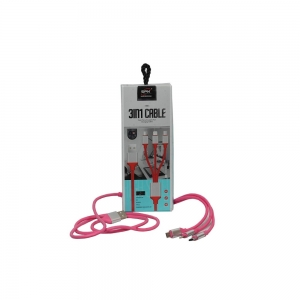 Colorful Multi Charger Cable 3 In 1 Cable SP-32