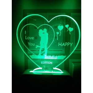 Generic Heart with couple I Love You AC Adapter Night Lamp