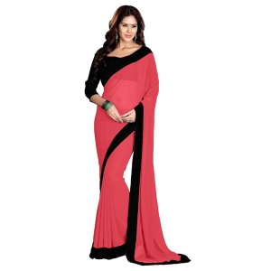 Generic Women's Georgette Saree With Blouse (Itaan,6-3 Mtrs)