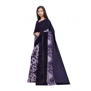Generic Women's Georgette Saree With Blouse (Purple,6-3 Mtrs)