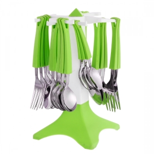Generic 24 Piece Stainless Steel Premium Cutlery Set With Stand